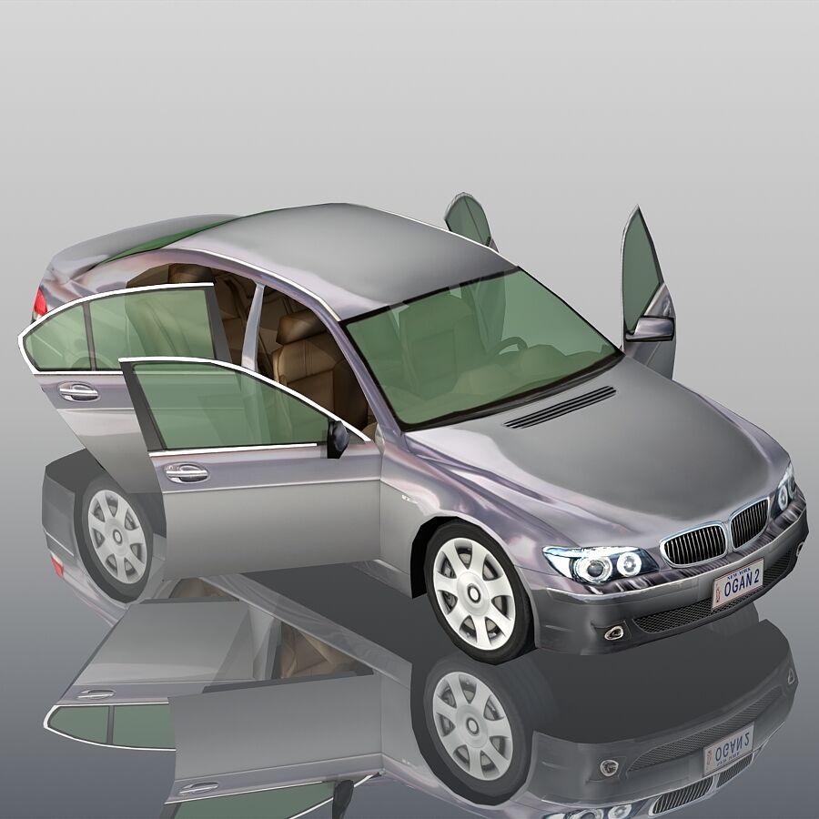 Jenerik Lüks Sedan Araba royalty-free 3d model - Preview no. 12