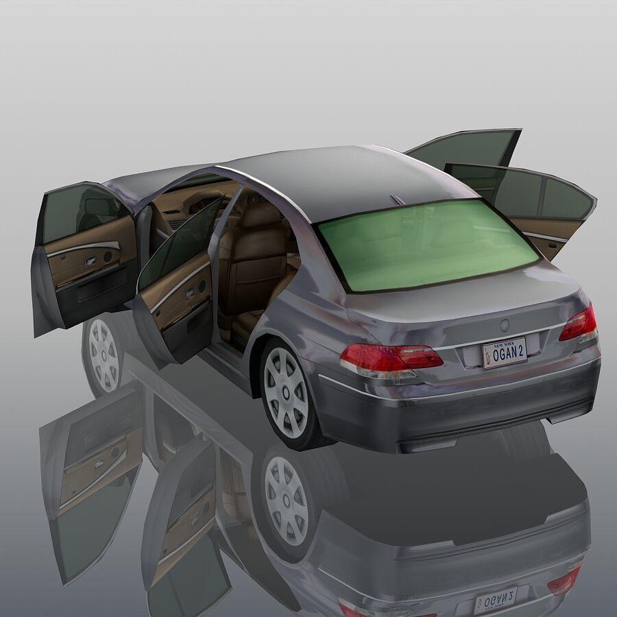Jenerik Lüks Sedan Araba royalty-free 3d model - Preview no. 10