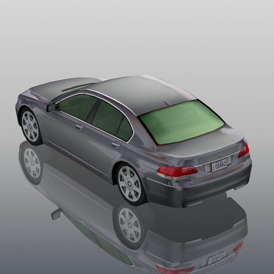 Jenerik Lüks Sedan Araba royalty-free 3d model - Preview no. 5