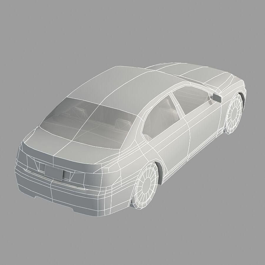 Jenerik Lüks Sedan Araba royalty-free 3d model - Preview no. 17