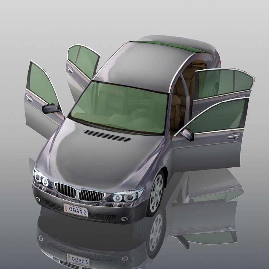Jenerik Lüks Sedan Araba royalty-free 3d model - Preview no. 8