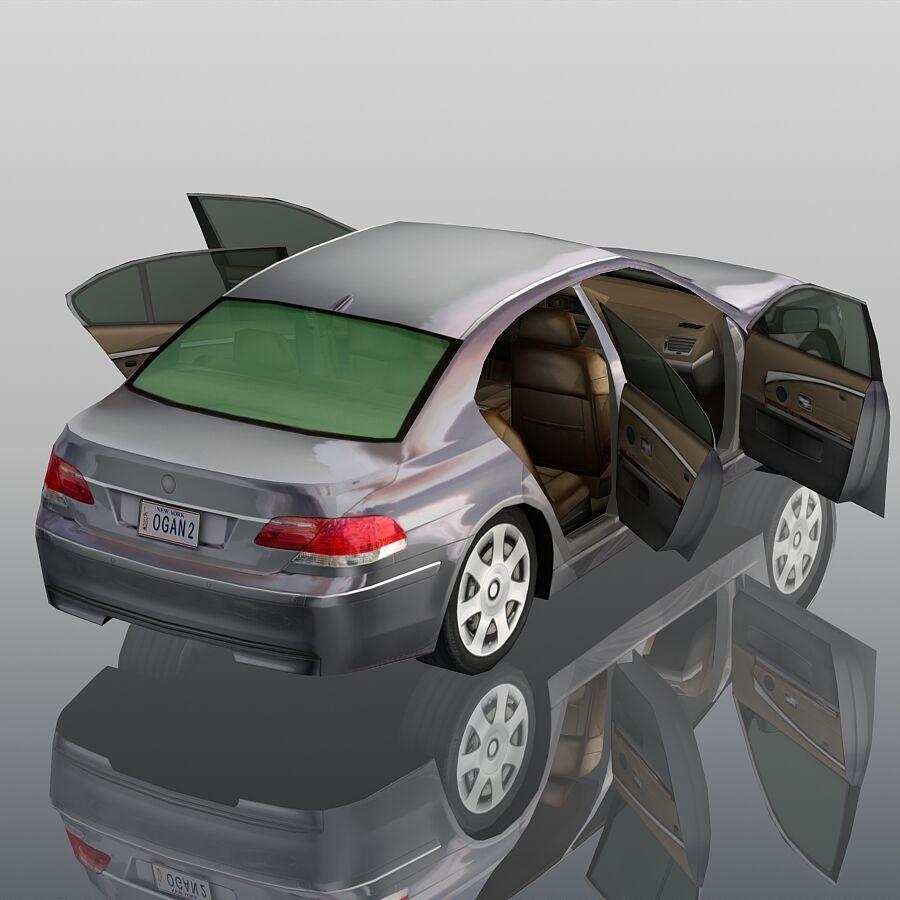 Jenerik Lüks Sedan Araba royalty-free 3d model - Preview no. 11