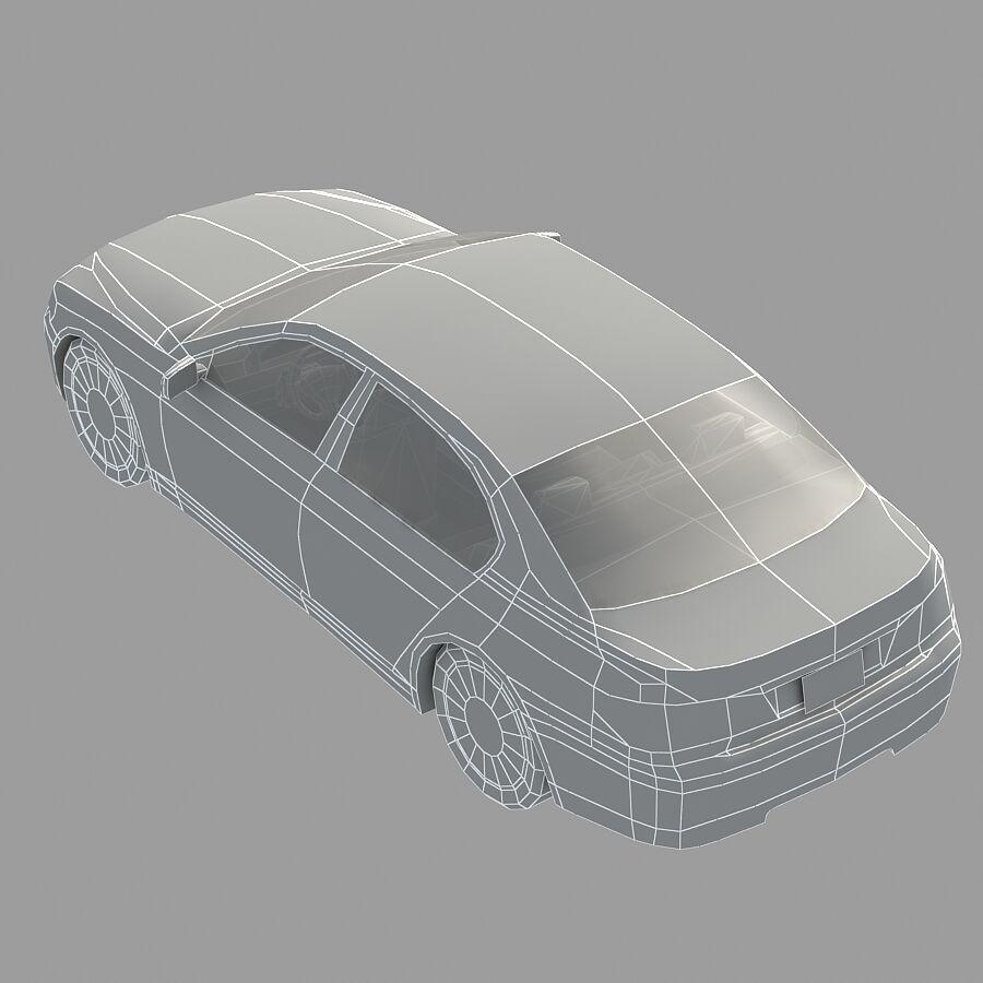 Jenerik Lüks Sedan Araba royalty-free 3d model - Preview no. 16