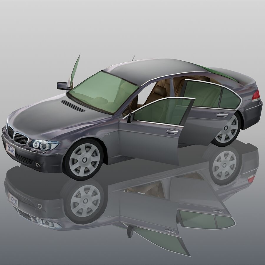 Jenerik Lüks Sedan Araba royalty-free 3d model - Preview no. 9
