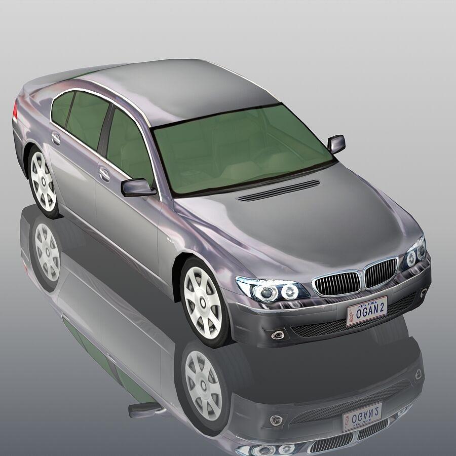 Jenerik Lüks Sedan Araba royalty-free 3d model - Preview no. 7