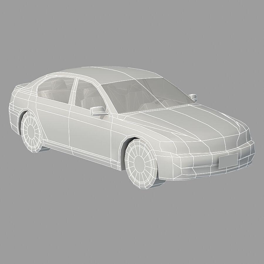 Jenerik Lüks Sedan Araba royalty-free 3d model - Preview no. 18