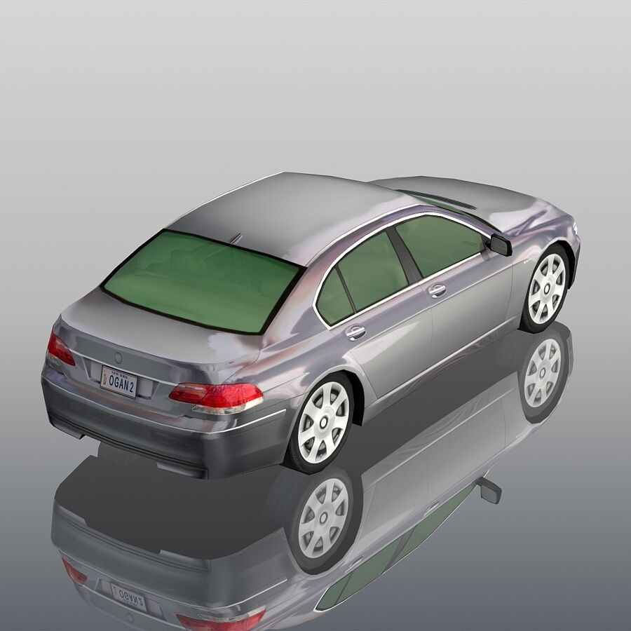 Jenerik Lüks Sedan Araba royalty-free 3d model - Preview no. 6