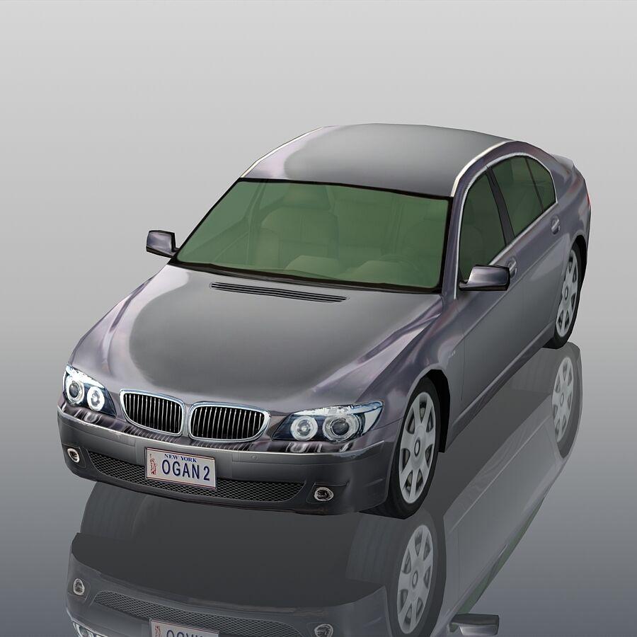 Jenerik Lüks Sedan Araba royalty-free 3d model - Preview no. 3