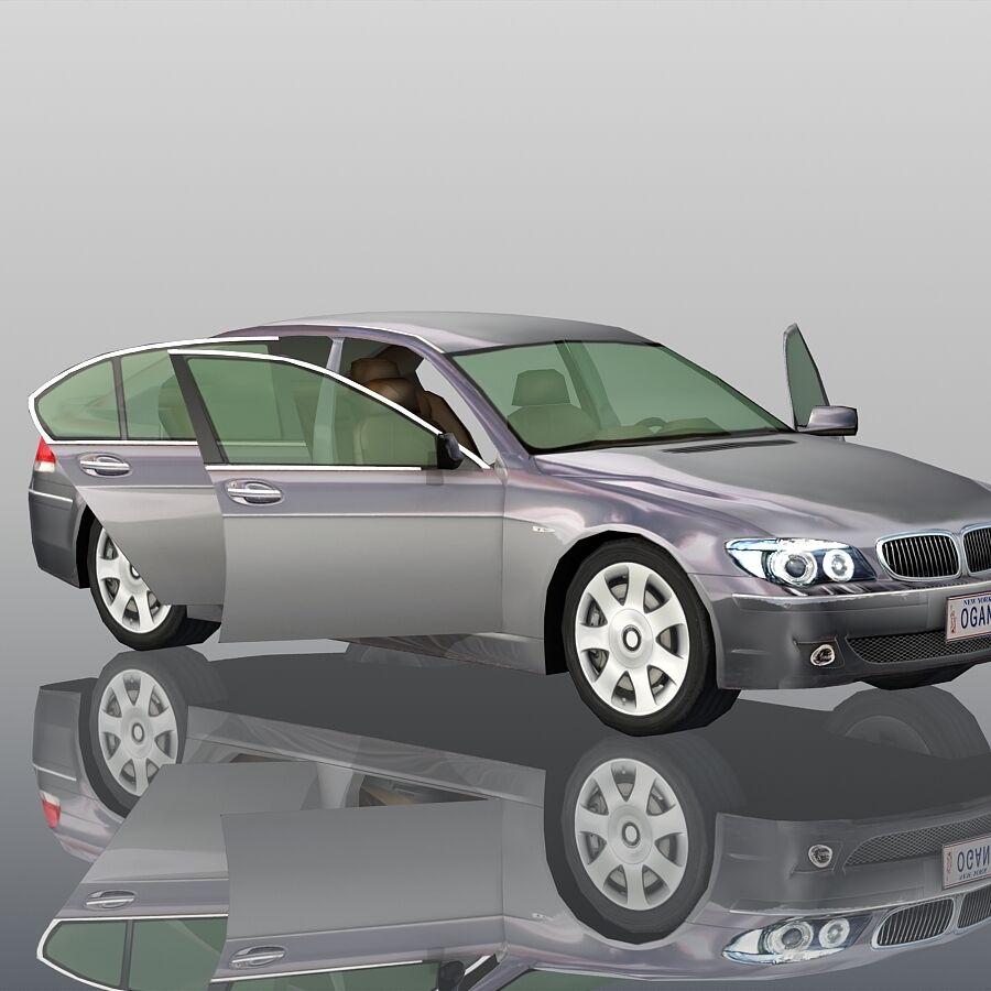 Jenerik Lüks Sedan Araba royalty-free 3d model - Preview no. 13
