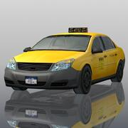 Taxi di New York City 3d model
