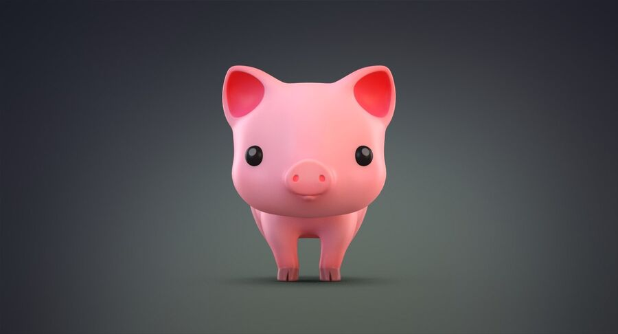 Cartoon Farm Animals Pack Collection royalty-free 3d model - Preview no. 17
