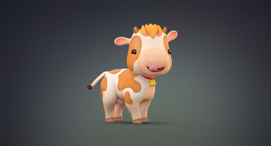 Cartoon Farm Animals Pack Collection royalty-free 3d model - Preview no. 4