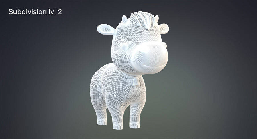 Cartoon Farm Animals Pack Collection royalty-free 3d model - Preview no. 6