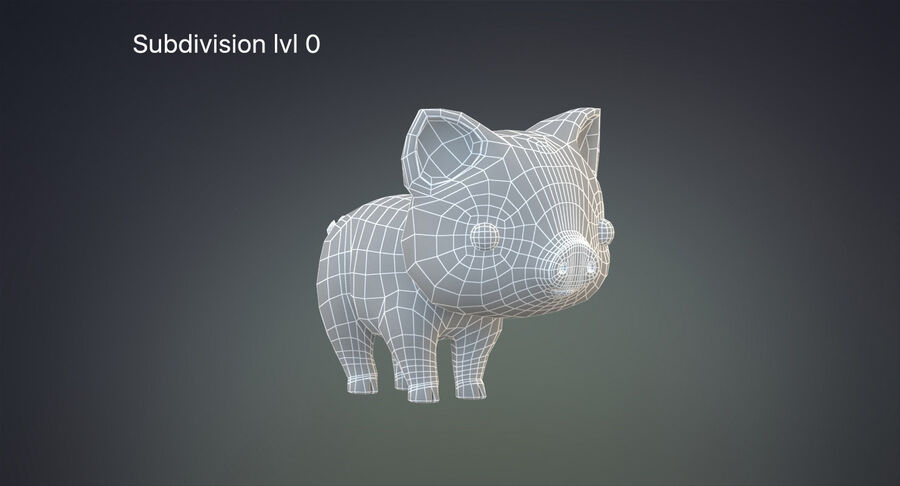 Cartoon Farm Animals Pack Collection royalty-free 3d model - Preview no. 21