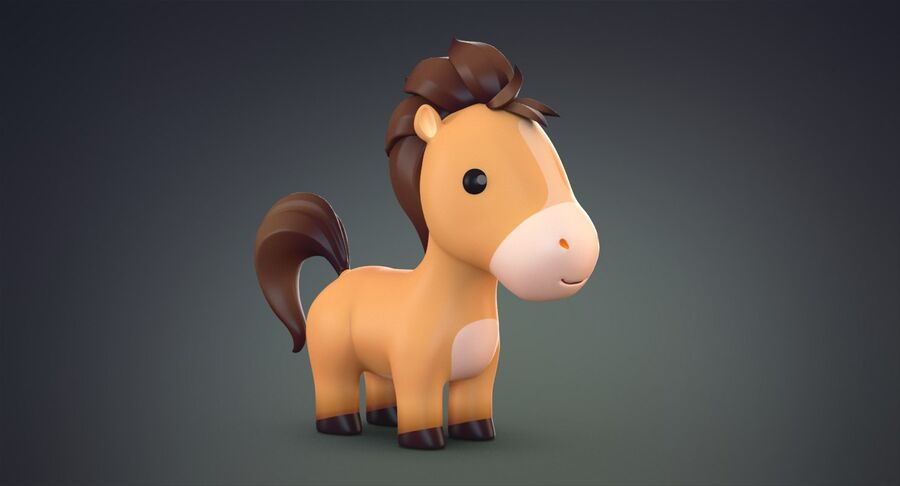 Cartoon Farm Animals Pack Collection royalty-free 3d model - Preview no. 9
