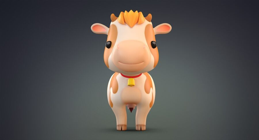 Cartoon Farm Animals Pack Collection royalty-free 3d model - Preview no. 3