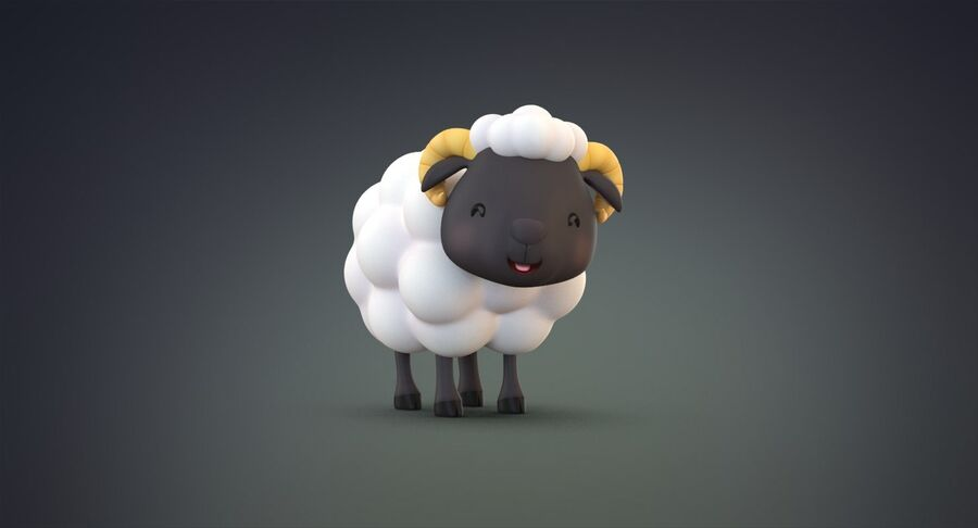 Cartoon Farm Animals Pack Collection royalty-free 3d model - Preview no. 28