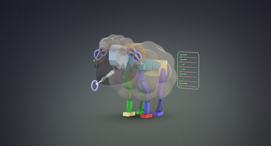 Cartoon Farm Animals Pack Collection royalty-free 3d model - Preview no. 33