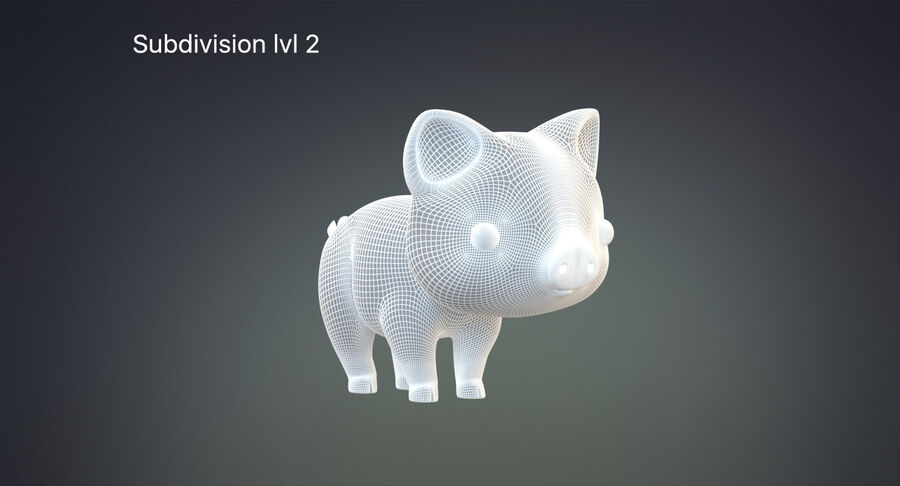 Cartoon Farm Animals Pack Collection royalty-free 3d model - Preview no. 22