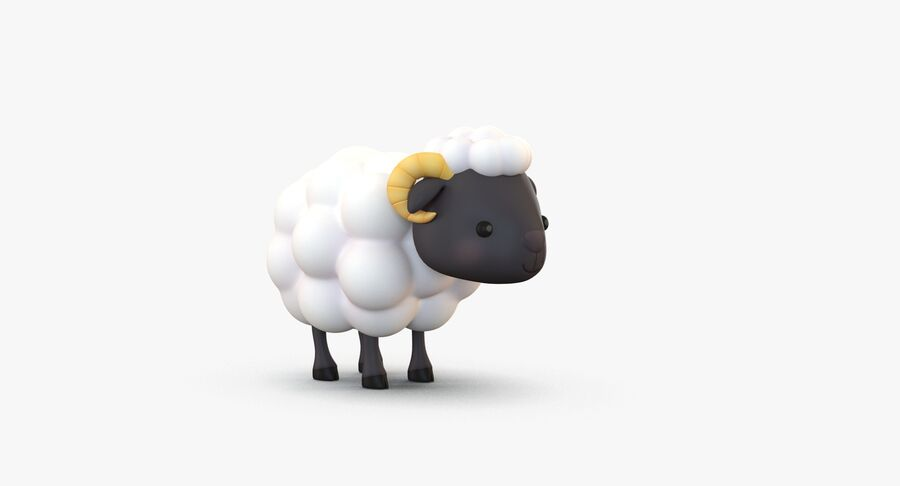 Cartoon Farm Animals Pack Collection royalty-free 3d model - Preview no. 35