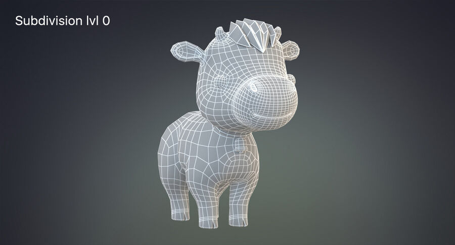 Cartoon Farm Animals Pack Collection royalty-free 3d model - Preview no. 5