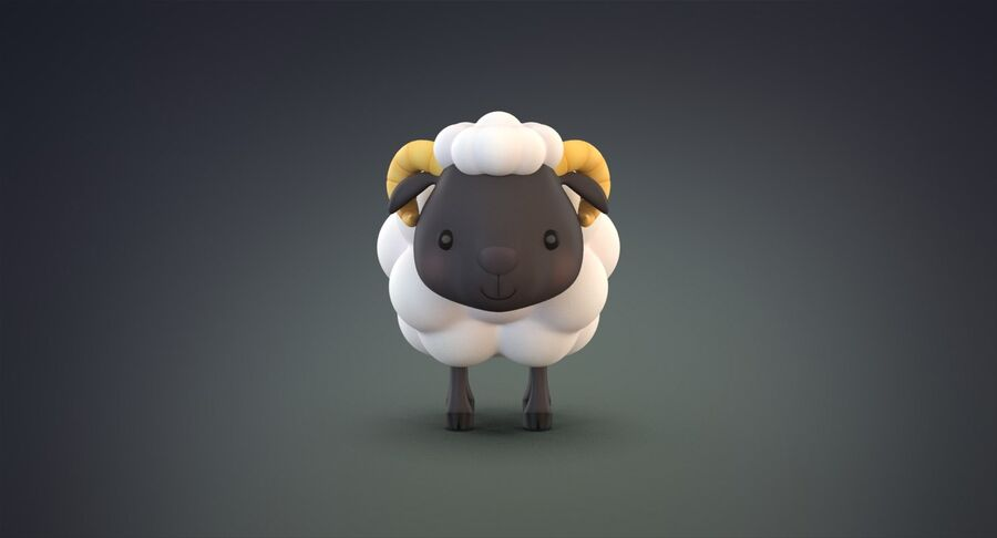 Cartoon Farm Animals Pack Collection royalty-free 3d model - Preview no. 26