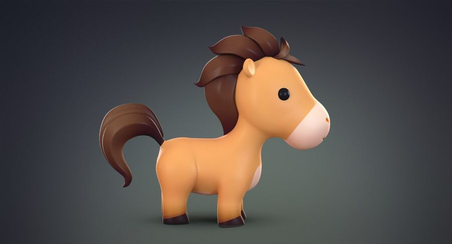 Cartoon Farm Animals Pack Collection royalty-free 3d model - Preview no. 10