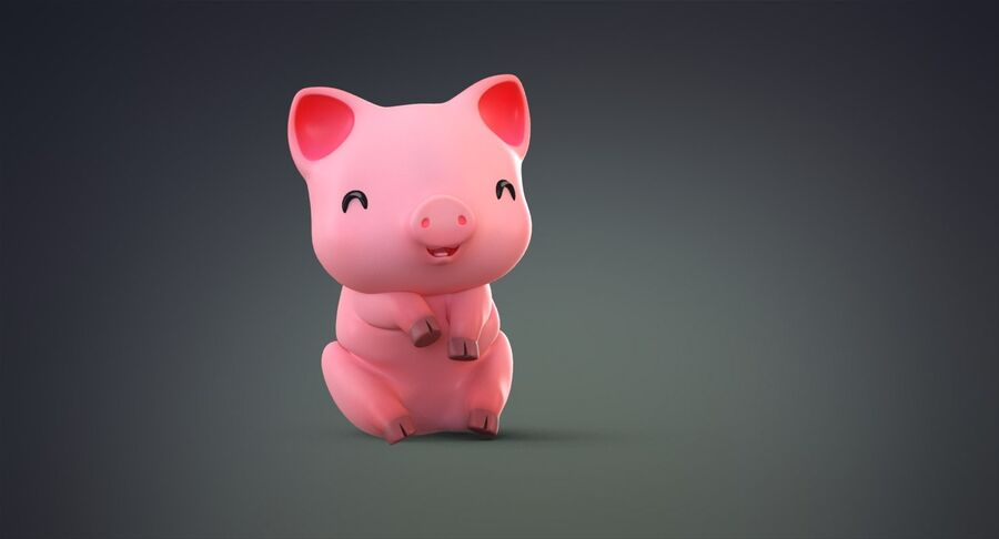 Cartoon Farm Animals Pack Collection royalty-free 3d model - Preview no. 20