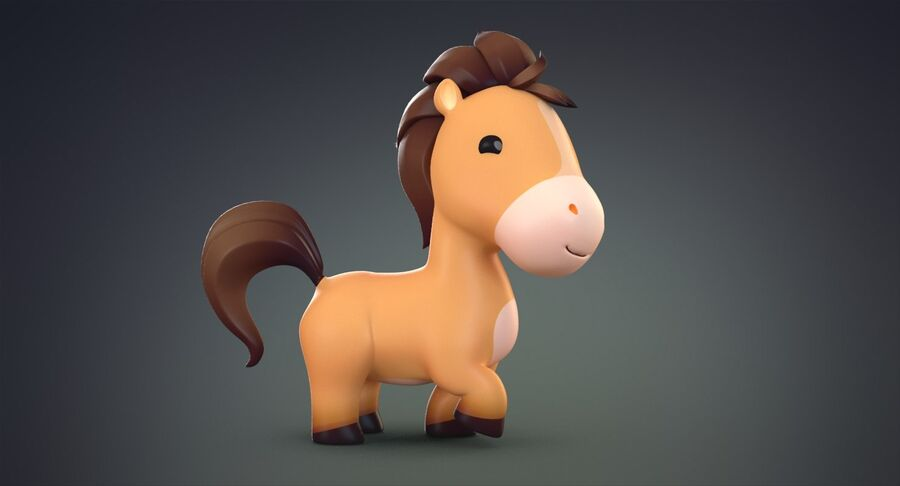 Cartoon Farm Animals Pack Collection royalty-free 3d model - Preview no. 11