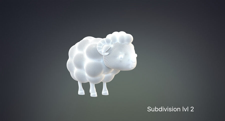 Cartoon Farm Animals Pack Collection royalty-free 3d model - Preview no. 31