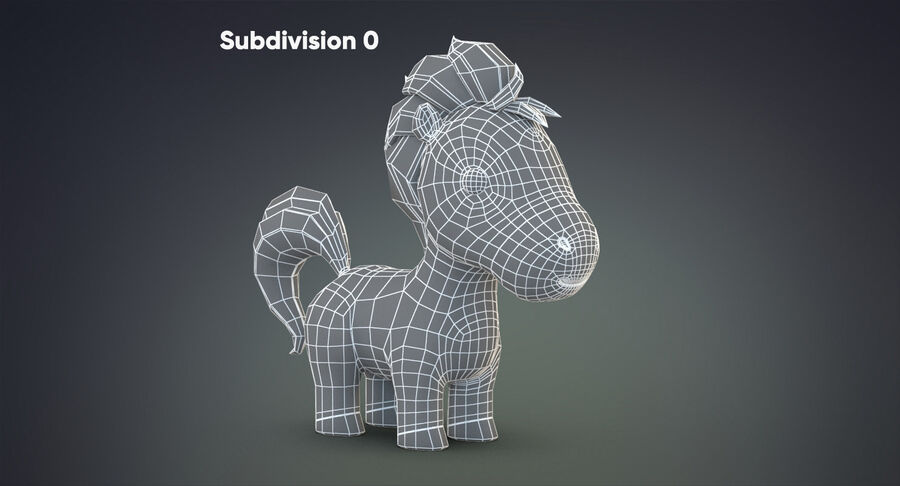 Cartoon Farm Animals Pack Collection royalty-free 3d model - Preview no. 12