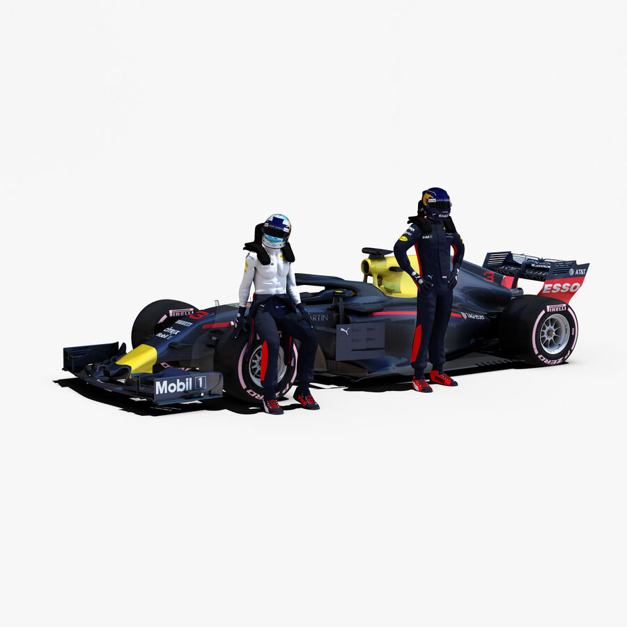 Formule 1 auto 2018 royalty-free 3d model - Preview no. 1