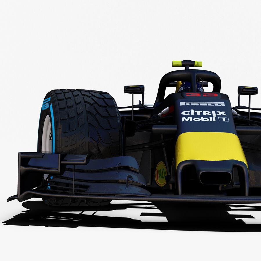 Formule 1 auto 2018 royalty-free 3d model - Preview no. 8