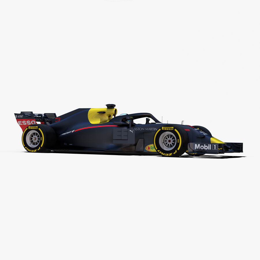 Formel 1-bil 2018 royalty-free 3d model - Preview no. 10