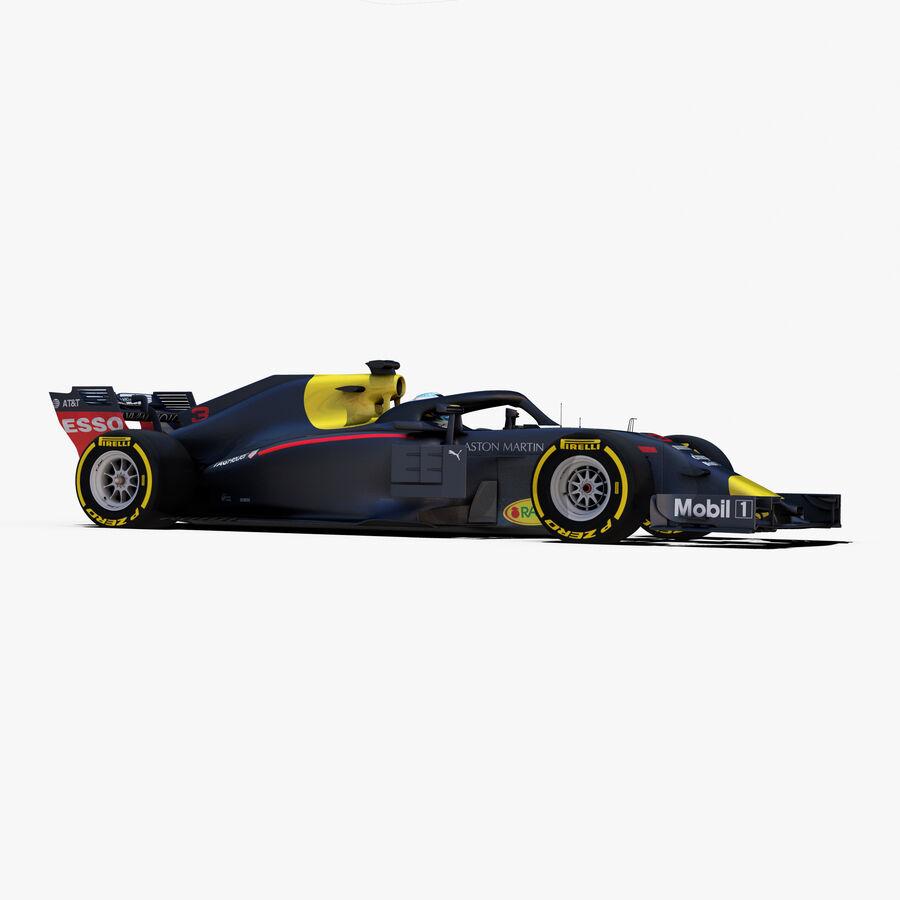 Formule 1 auto 2018 royalty-free 3d model - Preview no. 10