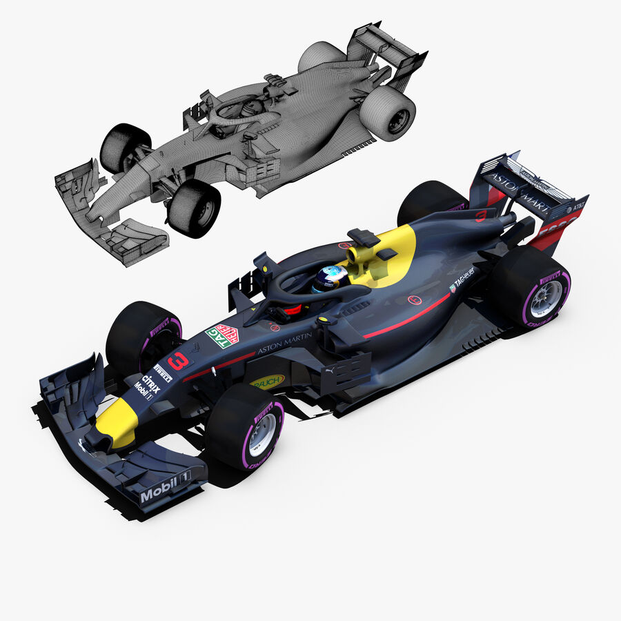 Formel 1-bil 2018 royalty-free 3d model - Preview no. 5