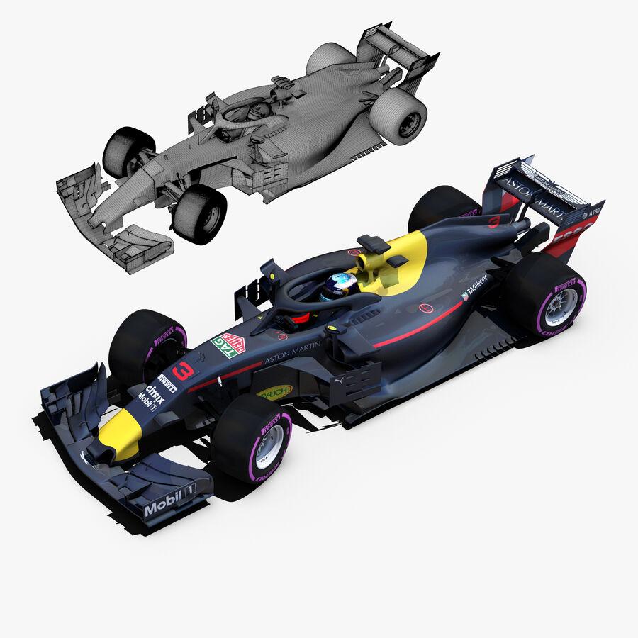 Formule 1 auto 2018 royalty-free 3d model - Preview no. 5