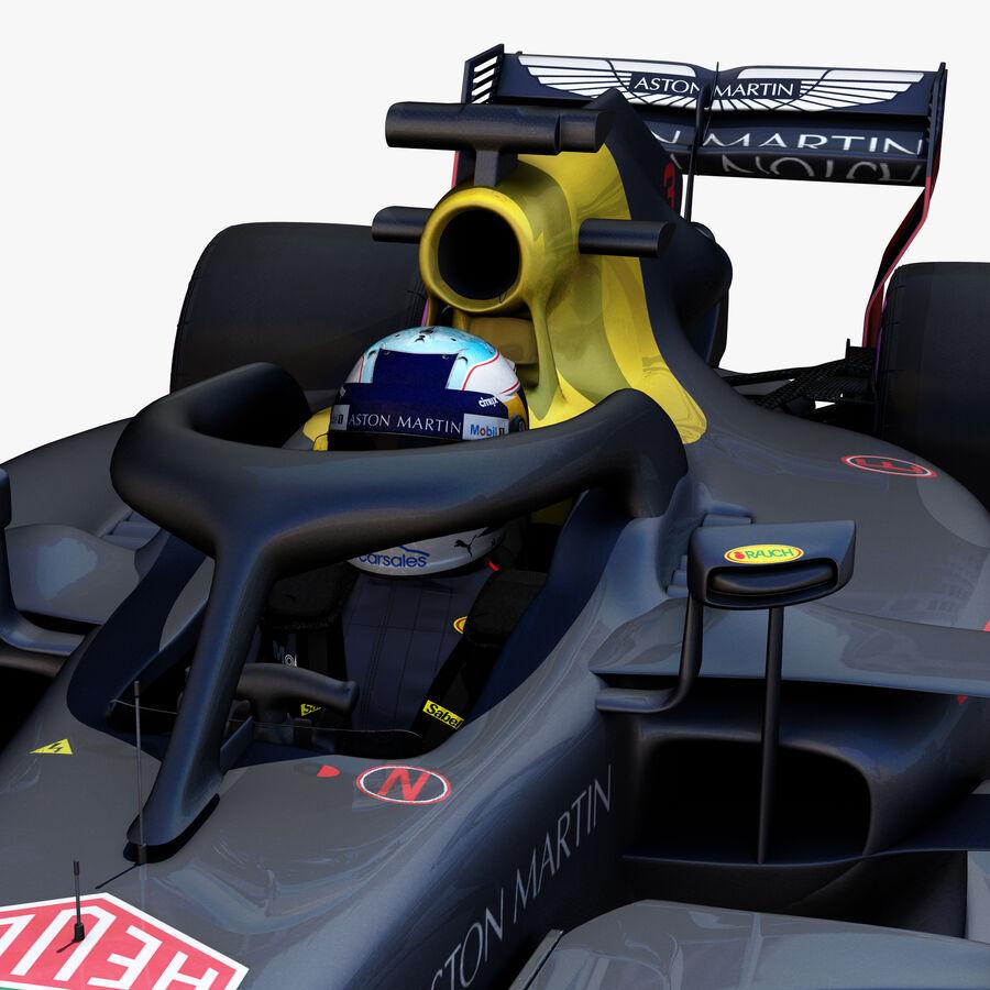 Formule 1 auto 2018 royalty-free 3d model - Preview no. 9