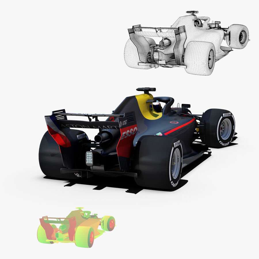 Formel 1-bil 2018 royalty-free 3d model - Preview no. 7