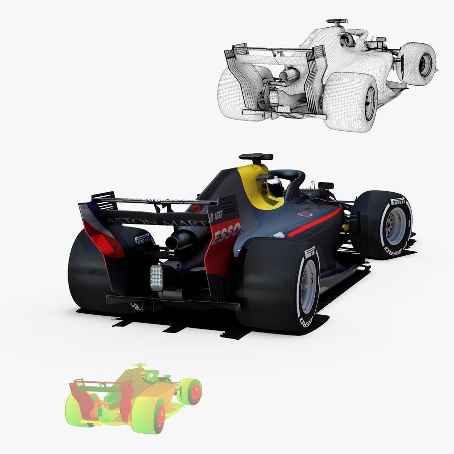 Formule 1 auto 2018 royalty-free 3d model - Preview no. 7