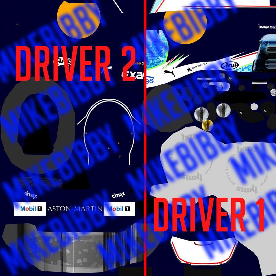 Formule 1 auto 2018 royalty-free 3d model - Preview no. 13