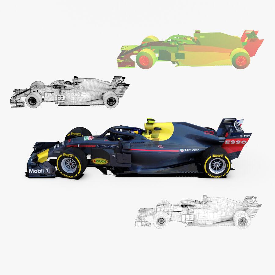 Formule 1 auto 2018 royalty-free 3d model - Preview no. 2