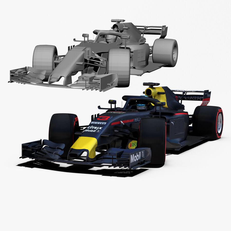 Formule 1 auto 2018 royalty-free 3d model - Preview no. 3