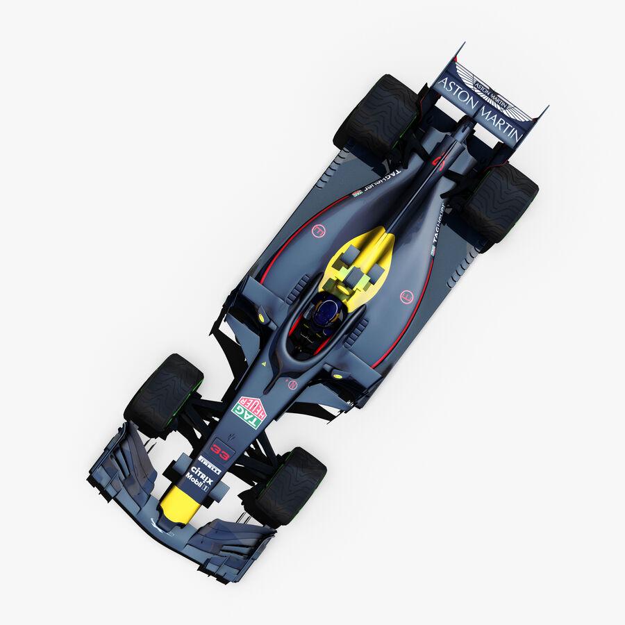 Formule 1 auto 2018 royalty-free 3d model - Preview no. 4