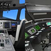 Cockpit d'avion et tour aérienne 3d model