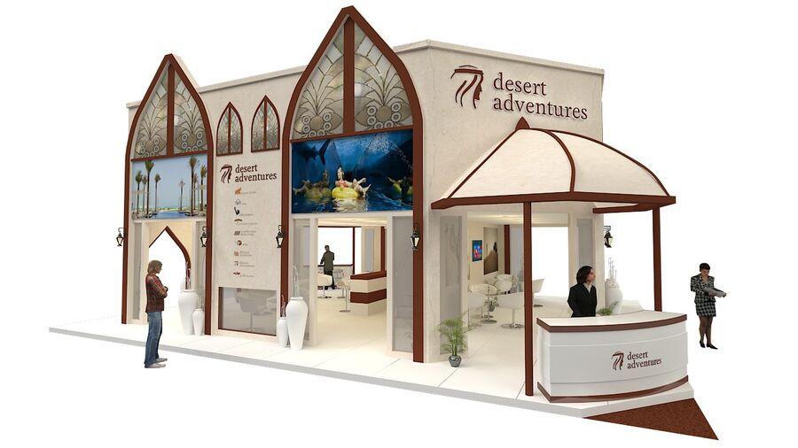 estande de exposição 12mx10m 120m² double decker royalty-free 3d model - Preview no. 1