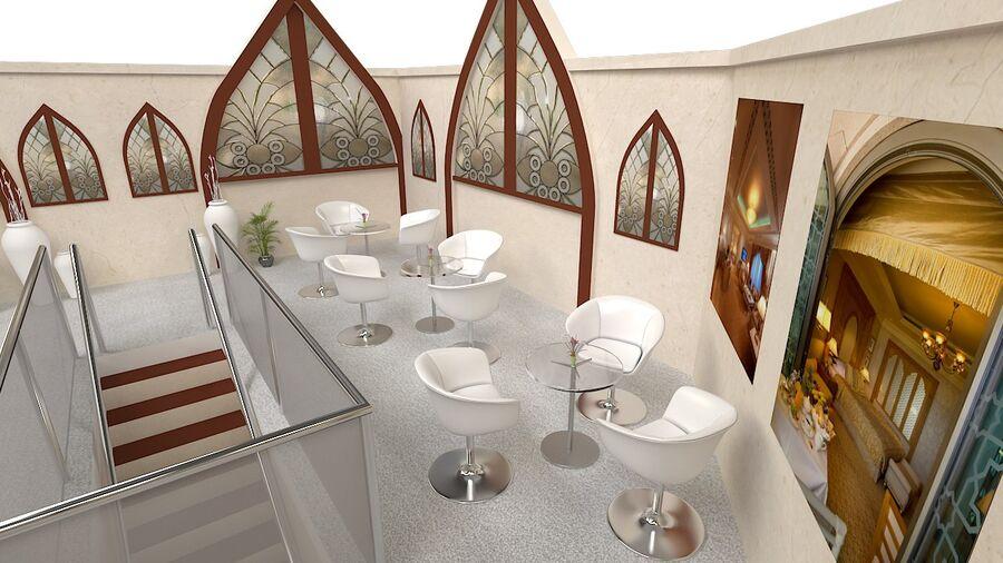 estande de exposição 12mx10m 120m² double decker royalty-free 3d model - Preview no. 2
