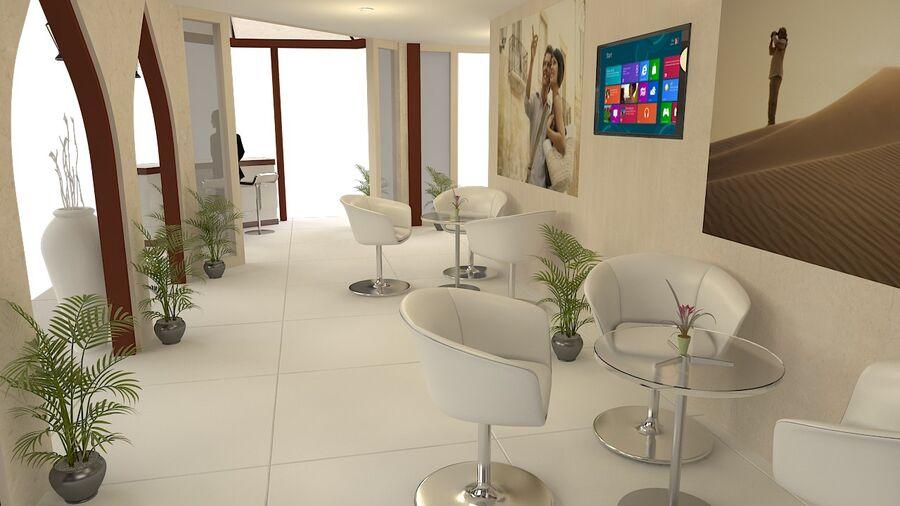 estande de exposição 12mx10m 120m² double decker royalty-free 3d model - Preview no. 3
