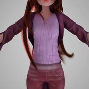 粉红色的女孩 3d model