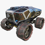 Sci-fi Exploration Rover Vehicle 3d model